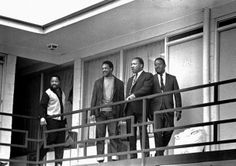 Little did they know that this would be one of the final photos of Dr. Martin Luther King Jr. in life.  Later that day he was assassinated while staying at this hotel in Memphis TN.