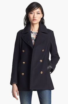 rag & bone 'Battle' Double Breasted Peacoat available at #Nordstrom