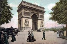 La place de l'Etoile à Paris en 1900