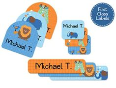 Emily Press Labels creates stylish, durable kids labels for school, camp and daycare. Our award-winning designs come in styles that appeal to all ages and include eco label options. Our First Class labels pack as seen here are just one of the man...
