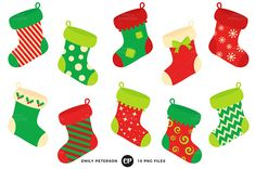 Etsy :: Your place to buy and sell all things handmade Christmas Candy Bar, Christmas Art, Mini Stockings, Christmas Stockings, Christmas Clipart, Christmas Printables, New Year Illustration, Bottle Cap Images, Plastic Canvas Crafts