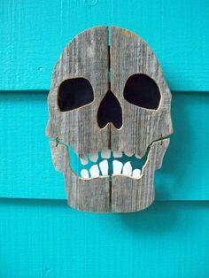 noid skull from etsy Fence wood art by Joao.Almeida.d.Eca