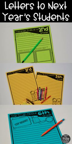 End of the year letters to next year's students is a great activity to keep students writing and engaged! This is print and go! I love a low prep activity for the end of the school year.