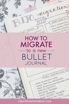 This step by step guide will walk you through your bullet journal migration without being overwhelmed. Don't be tempted to go back to a clunky planner! Bullet Journal How To Start A, Bullet Journal Layout, Bullet Journal Inspiration, Bullet Journals, Journal News, My Journal, Journal Pages, Planner Journal, Journal Quotes