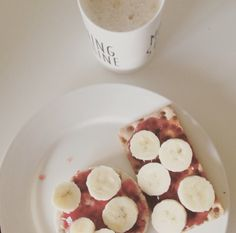 Favorite breakfast #coffee #banana