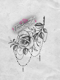 Mini Tattoos, Rose Tattoos, Tattoo Studio, Jewel Tattoo, Underboob Tattoo, Make Tattoo, Tattoos For Women, Tatting, Tattoo Designs