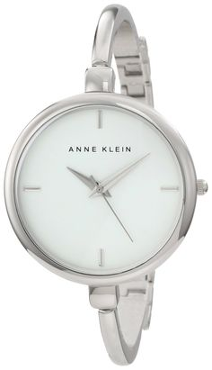 ceda95c806b Anne Klein Women s AK 1049WTSV Silver-Tone Illusion Bangle Watch
