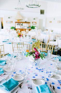 80s pop themed wedding decor | photo by Ariane Moshayedi Photography | Read more - http://www.100layercake.com/blog/?p=67732