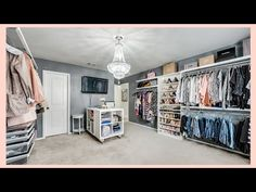 Today I'm sharing a full tour of my dream dressing room in our old house. We set aside this spare bedroom to tu. Spare Room Dressing Room Ideas, Spare Room Walk In Closet, Bedroom Into Dressing Room, Bedroom Turned Closet, Spare Bedroom Closets, Closet Rooms, Dressing Rooms, Bedrooms, Closet Renovation
