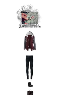 """Funny Jelly Fish"" by autumnred ❤ liked on Polyvore featuring Just Female, V AVE SHOE REPAIR, Alexander Wang, Off-White and jellyfish"