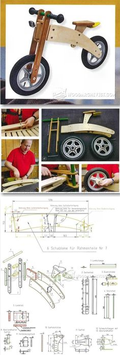 Balance Bike Plans - Children's Outdoor Plans and Projects | WoodArchivist.com