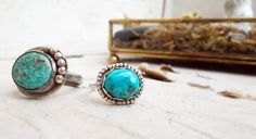 Natural bright blue genuine turquoise sterling by CultivatedDreams