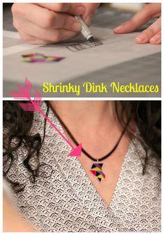 HGTV Crafternoon: DIY Shrinky Dink Jewelry (http://blog.hgtv.com/design/2014/05/06/diy-shrinky-dink-jewelry-mothers-day-kids-craft/?soc=pinterest)