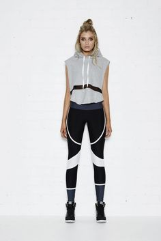 BRONX TOP – CROPPED HOODIE W/MESH PANEL The Bronx cropped hoodie is perfect for a cool down after your workout. Perfect for pre work out. Team with any of our leggings for a chic sports luxe look.: Shop @ FitnessApparelExpress.com