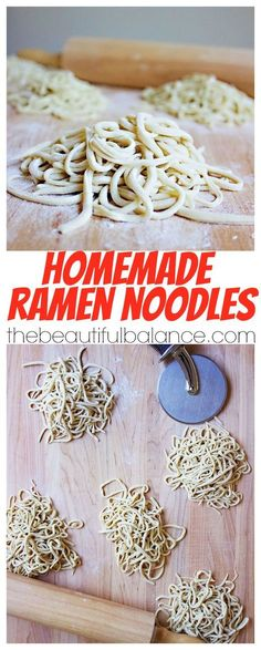 Using a staple ingredient that you are guaranteed to have on hand, homemade ramen noodles are extremely easy, fast, and delicious to make at home! The Beautiful Balance Homemade Ramen, Homemade Pasta, Pasta Casera, Pasta Noodles, Spaghetti Noodles, Asian Cooking, Cooking Kale, Cooking Ribs, Mets