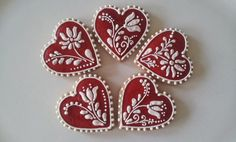 Dozen gingerbread Valentine's day cookies with by CookmunkCookies: