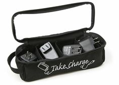 Great Geek Gear: Take Charge Charger Case all the compartments can collapse making room for a laptop charger