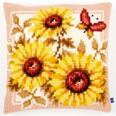 Sun Flowers - Kruissteekkussen - Vervaco
