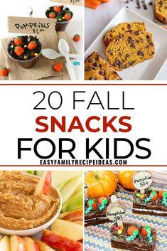 25+ Fall Snack Ideas - Easy, Fun, and Healthy Snacks - Easy Family Recipe Ideas
