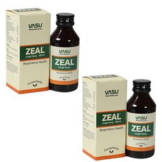 "2 x Zeal Cough Syrup (The safe cough therapy) - - ""Expedited International Delivery by USPS / FedEx """