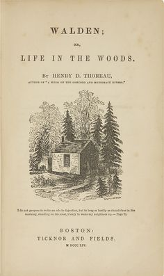 "Early Drafts of ""Walden"" Show Thoreau's Desire For Some Kind of Wireless Internet Access"