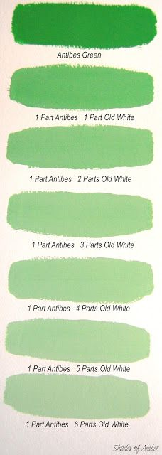 Annie Sloan Antibes Green and mixed with old white