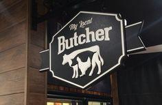 My Local Butcher sign / Danthonia Designs