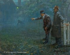 "Painting titled ""Sherlock Holmes and the Speckled Band Adventure""; (Not Just Wildlife Art of John & Suzie Seerey-Lester)"