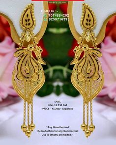 1 Gram Gold Jewellery, New Jewellery Design, Gold Bangles Design, Gold Earrings Designs, Gold Jewelry, Gold Jhumka Earrings, Gold Mangalsutra Designs, Gold Necklace Simple, Bridal Bangles