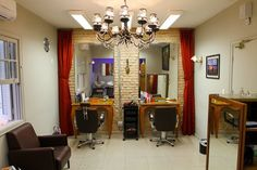 salao de beleza em preto e branco decoração - Pesquisa Google