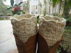 Crochet Women Boot Socks Leg Warmers Boot by Tinacrochetstudio