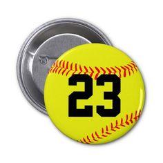 Custom #Softball Button Pin