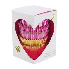 hearts & arrows cupcake liners