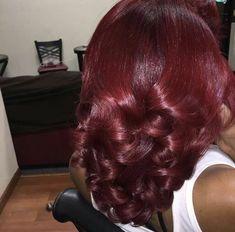 Pressed Natural Hair, Dyed Natural Hair, Dyed Hair, Burgundy Natural Hair, Natural Hair Blowout, Curly Hair Styles, Natural Hair Styles, Natural Beauty, Pelo Afro