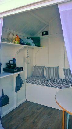 Plans to Build a Playhouse Beach Hut Interior, Shed Interior, She Shed Decorating Ideas, Beach Hut Decor, Beach Shack, Beach Huts, Summer House Interiors, Summer House Garden, Tree House Plans