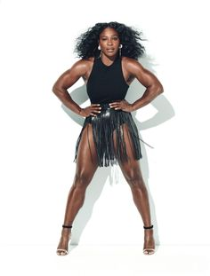Strength On So Many Levels… Serena Williams takes the cover story of American Glamour's July 2016 edition shot by fashion photographer Norman Jean Roy and styled by Jillian Davison. Black Girls Rock, Norman Jean Roy, Venus And Serena Williams, Look Body, Ebony Beauty, Female Athletes, Beautiful Black Women, Fit Women, Celebrities
