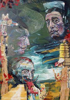 """Salvador Dalí"" by Brigitte Dietz (Germany) #art #germany #deutschland #contemporaryart"