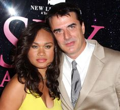 Mr Big Chris Noth and his lovely wife Tara Lynn Wilson