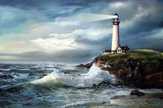 A Light of Hope, Pigeon Point Lighthouse by Regina Femrite