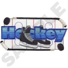 Dakota Collectibles Embroidery Design: Hockey Applique 4.14 inches H x 8.29 inches W