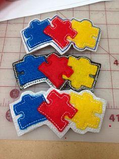 Autism puzzle headband sliders