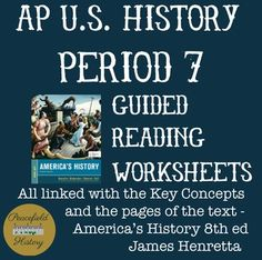 64 Best Period 7 - APUSH images in 2019 | History, History