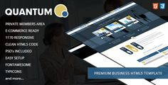 Quantum is a powerful business/corporate HTML5 responsive template ideal for businesses and corporations of all sizes. With Quantum you can showcase your business services, staff members, infographics, news and other useful information. Quantum also includes widget ready components that can be easily converted to WordPress, Joomla or Drupal. Quantum also features a fully functional contact form and live Twitter feed.   	Quantum comes pack  #business #corporate #html5 #quantum #responsive