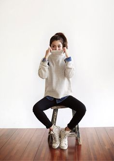 24 poloneck knit T, denim shirt | DHOLIC