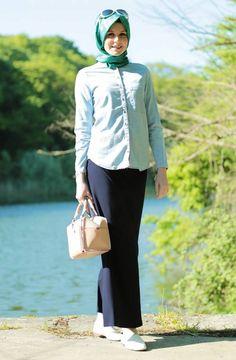 Hijab United Etek-Lacivert 5000-17