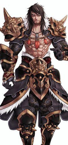 ArtStation - Pride of soul (male warriors), Ren Wei Pan