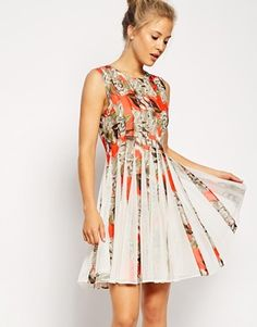 Enlarge ASOS Floral Mesh Insert Dress
