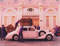 Wes Anderson Style, Wes Anderson Movies, Grand Budapest Hotel, Deco Pastel, Color In Film, Pink Movies, Grande Hotel, Coffee And Cigarettes, Movie Shots