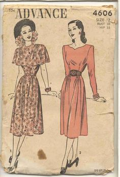 I like the one on the right because of the neckline-  Vintage dress pattern