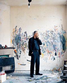 Luc Tuymans in his studio